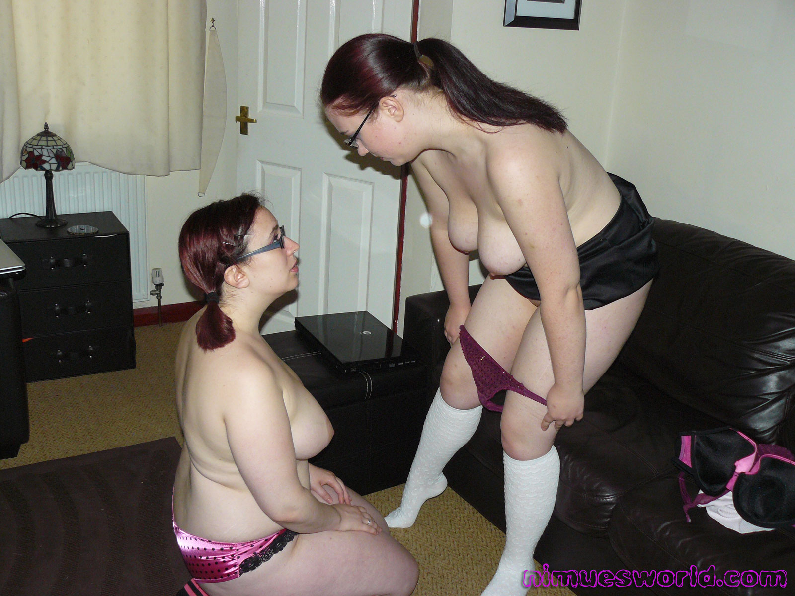2 amateur lesbian girlfriends share one cock with facial 1